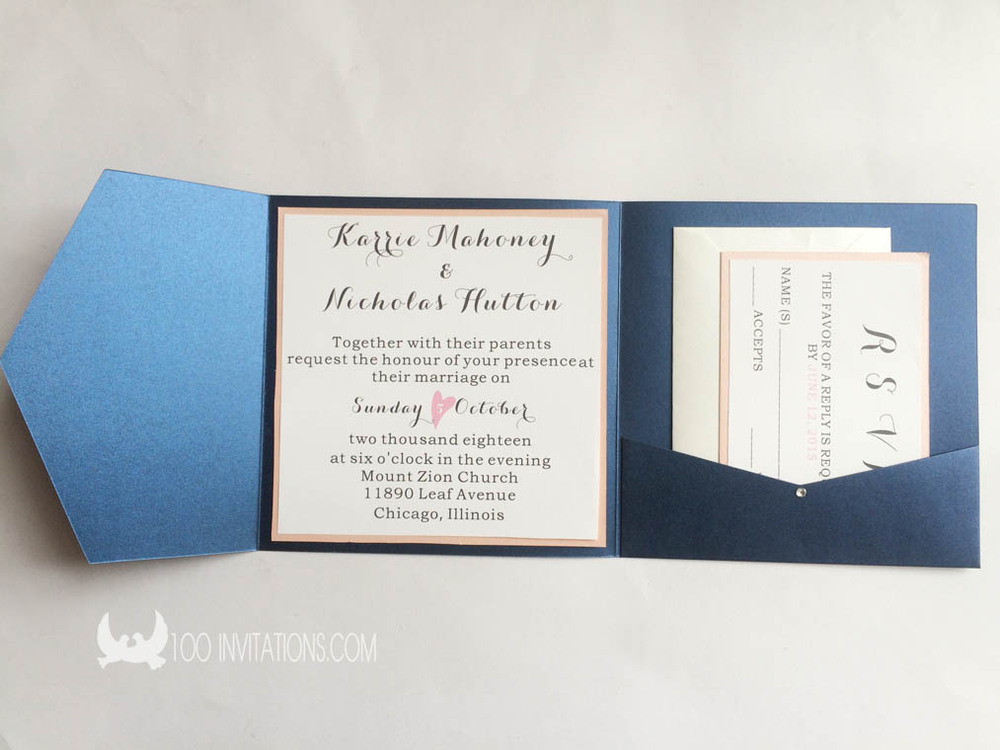 Wedding Invitation Pocket Fold Envelopes Yaseen For