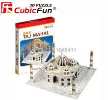 Taj Mahal CubicFun 3D educativo de papel y EPS modelo Papercraft adorno casero para el regalo navidad
