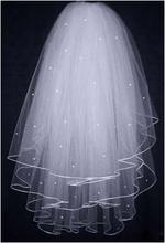 2016 Bridal Veils Buy Glamorous Multi Layer White Wedding Bridal Veils Lace Edge Bridal Accessories(China (Mainland))