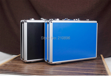 New Style aluminum tool case equipment box for ipad high quality ABS panel black and blue diced foam included(China (Mainland))