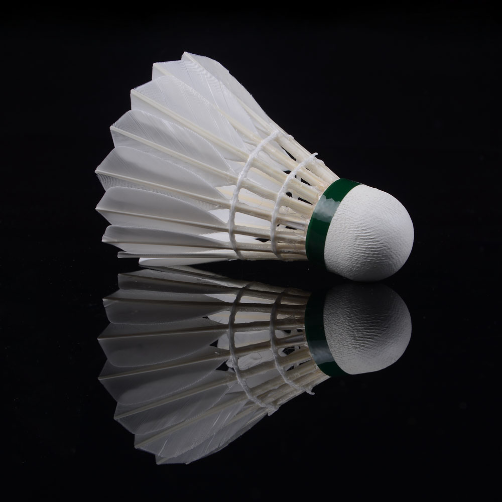 12pcs Durable White Duck Feather Shuttlecock Badminton Birdies Lenwave Brand High Quality Free Shipping(China (Mainland))