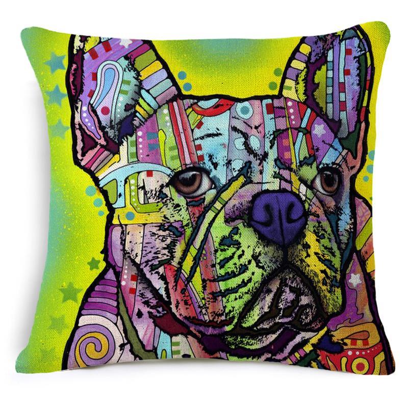 Bulldog Cushion Covers For Sofas Dog Throw Pillow Covers Car Covers Burlap Pillow Cushions Home Decor