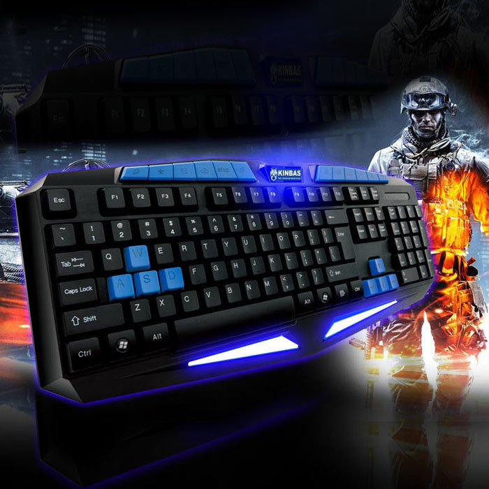 New Internet Wired Gaming illuminated Durable Professional Game Keyboard Tonsee(China (Mainland))