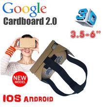 2015 new HeadMount Google Cardboard 2 2.0 Virtual Reality VR 3D Glasses toolkit Rift Oculus for 3.5 – 6″ Smartphone