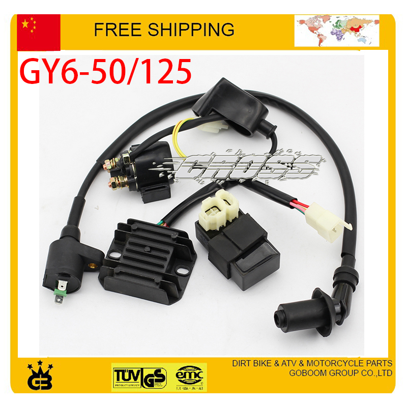 50cc 125cc font b GY6 b font scooter cdi rectifier ignition coil relay rsz jog r5