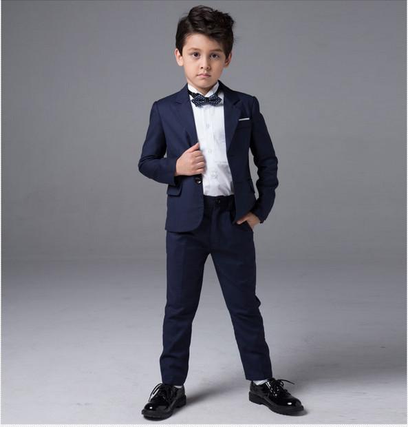 Бесплатная доставка высокое качество синего свадебные костюмы для мальчиков пальто ...