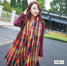 major Winter 2015 Tartan Scarf Desigual Plaid Scarf cuadros New Designer Unisex Acrylic Basic Shawls Women's big size Scarves