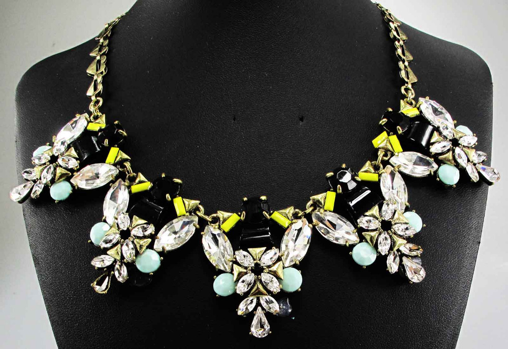 Newest Gorgeous Fashion Necklace Jewelry Brunet Department Statement Necklace Women Choker Necklaces & Pendants Q749(China (Mainland))