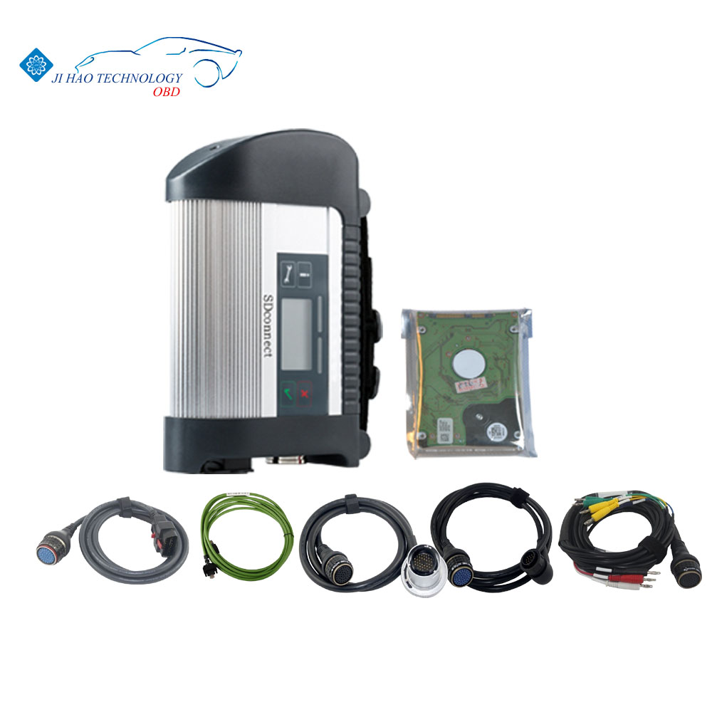 DHL shipping 2016 hot MB Star C4 v 2016.05 diagnostic tool with HDD software 5 cables 3 years warranty with multi-language(China (Mainland))