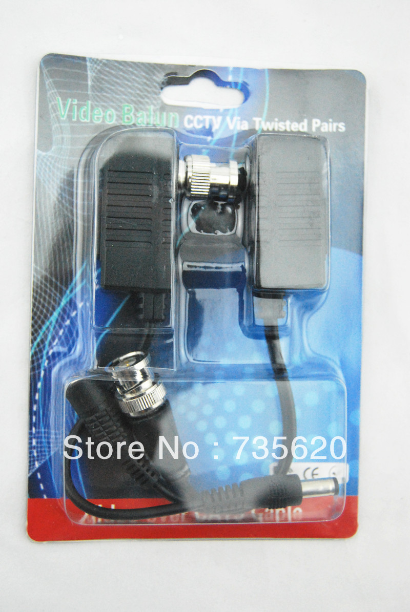High quality KSD-206D Video Transceiver CCTV UTP Video Balun over Cat5 Free Shipping(China (Mainland))