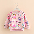 Baby Graffiti Hoodies 2017 Autumn Winter Korean New Girls Cute Top Kids Classical Brand Cartoon Rabbit
