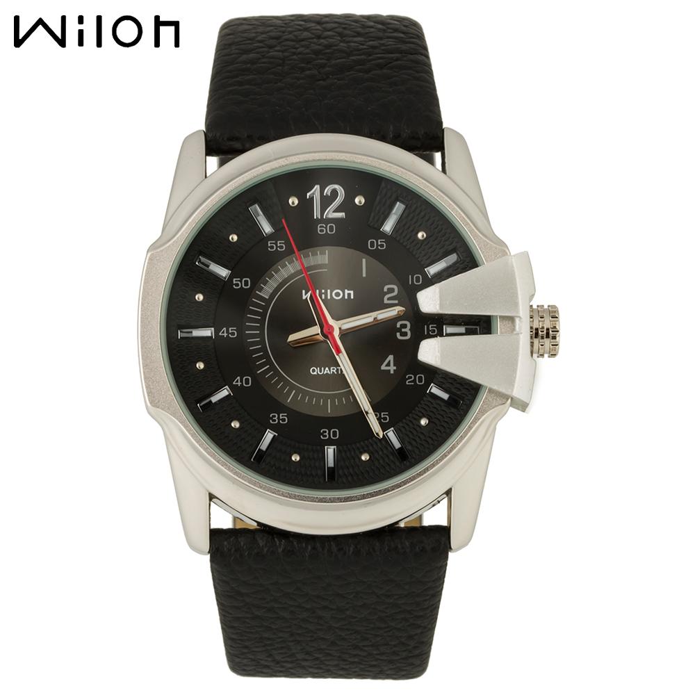 Wilon 938G нержавеющая сталь кварцевые наручные часы для