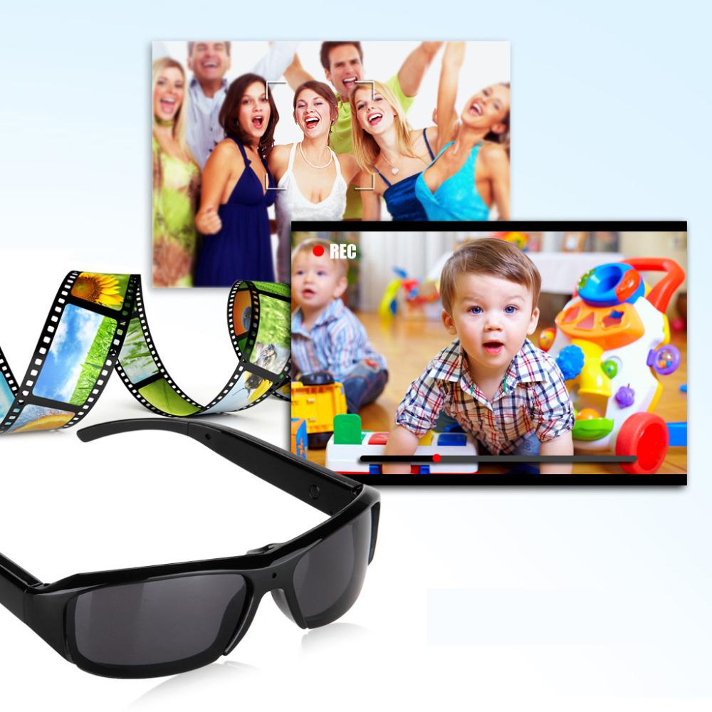 100% Brand Excelvan HD Polarized Sunglasses Mini Camera Digital Video Recorder DV Eyewear Camcorder Audio-TF(China (Mainland))