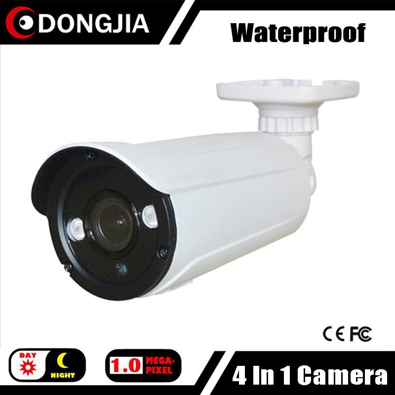 DONGJIA DJ-TCA1025 Wholesale Waterproof Array Leds 720P 1MP Outdoor HDTVI Camera 4mm Lens Bullet Night Vision CCTV Cameras(China (Mainland))