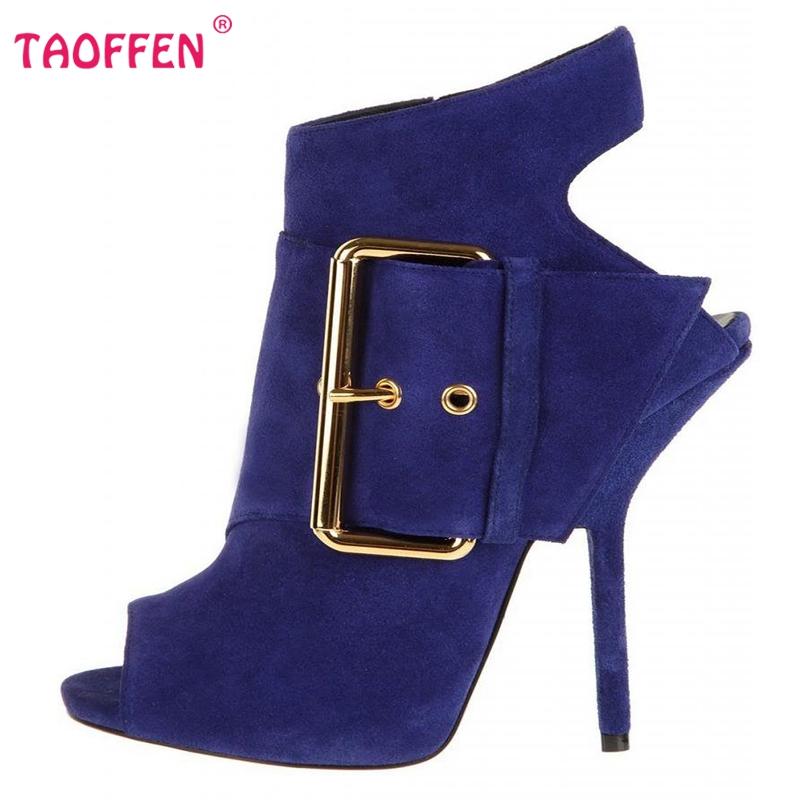 Фотография Women Brand New Open Toe Thin Heel Sandals Woman Fashion Zipper Heels Shoes Stylish  Buckle Heeled Shoes Size 35-46 B299