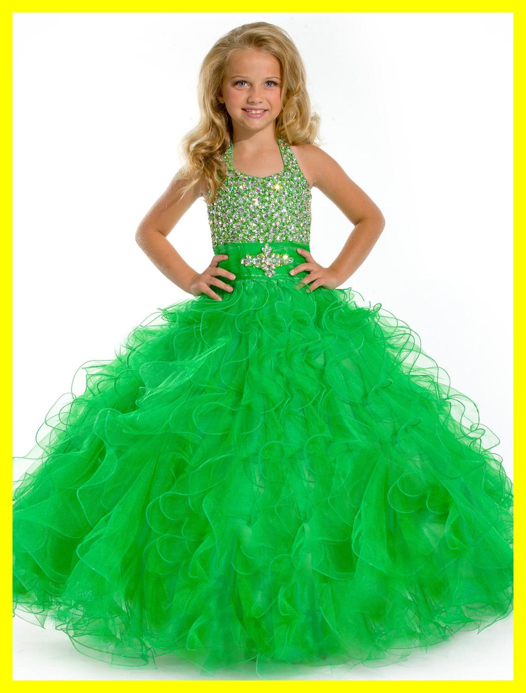 Champagne Flower Girl Dress Dresses Baby Girls Summer Sash Pageant Halter Sle