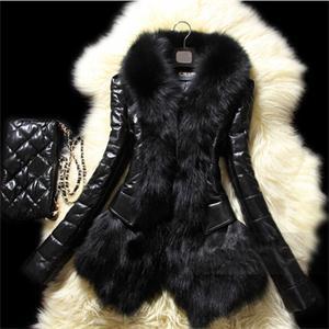 New Style Fashion Women Slim Winter Faux Fur Coat Plus Size Solid Fur Collar Plus Size Women Charming Outerwear(China (Mainland))