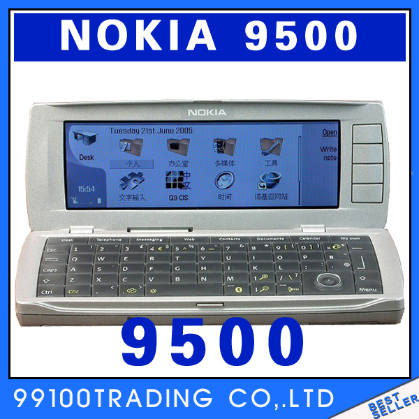 Unlocked Nokia 9500 mobile phone Free Shipping Refurbished(China (Mainland))