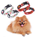 High Quality Christmas Tree Puppy Dogs collar Harness Leash Pets Animals Cat Nylon Adjustable Collors Leads