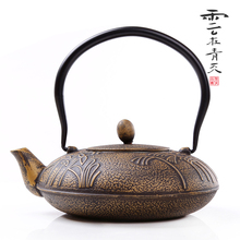 Japanese old cast iron tea pot Joss stick iron pot cast iron pot embossed kung fu
