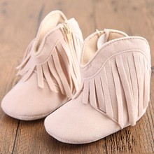 Autumn Winter Baby Boy Girl Ankle Boots Fahsion Tassel Infant Toddler Non-slip Shoes  0-18 Months Kids Soft Sole Crib Shoe(China (Mainland))