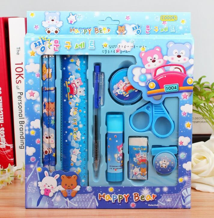 2019 wholesale kawaii stationery set for kids cute pencil case for