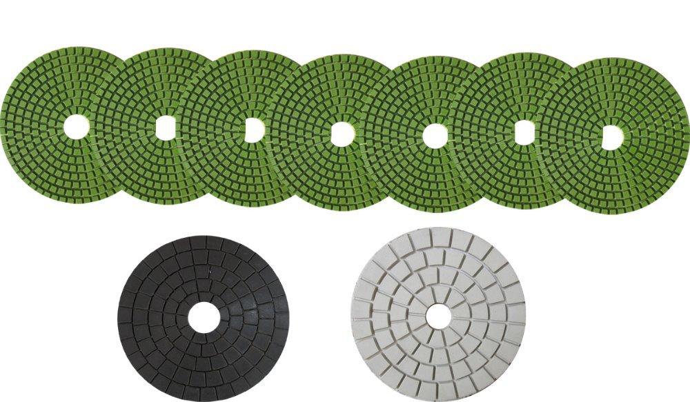 /lot 100mm Diamond Flexible Wet Polishing Pad White / Black Buff - New Zuan Tools Co., Ltd. store