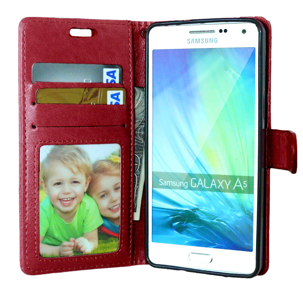 Case For Samsung A5 Cover Soft Silicone & Flip Leather Case For Samsung Galaxy A5 A500 A5000 A500F Fundas Card Slot Phone Shell