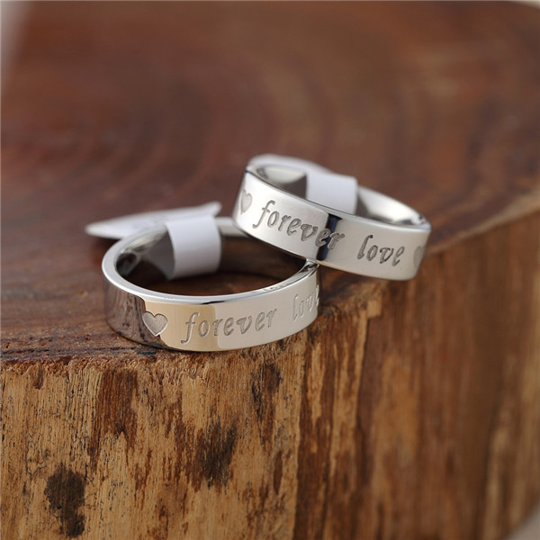 Fine Quality Silver plated Ring Fashion Forever Love Steel Ring Women&Men Gift Jewelry Finger Rings(China (Mainland))