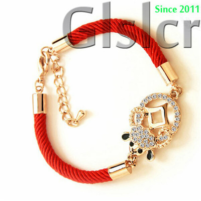High-end brand red rope bracelet hand jewelry for men and women Lucky transport Ram couple fashion jewelry wholesale bracelet(China (Mainland))