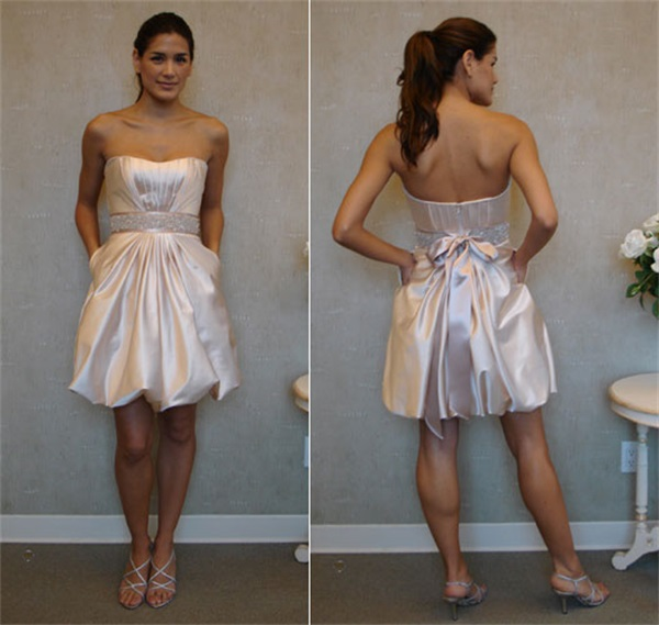 Modern Country Chic Wedding Dress : New arrival country style short bridesmaid dress with sashes