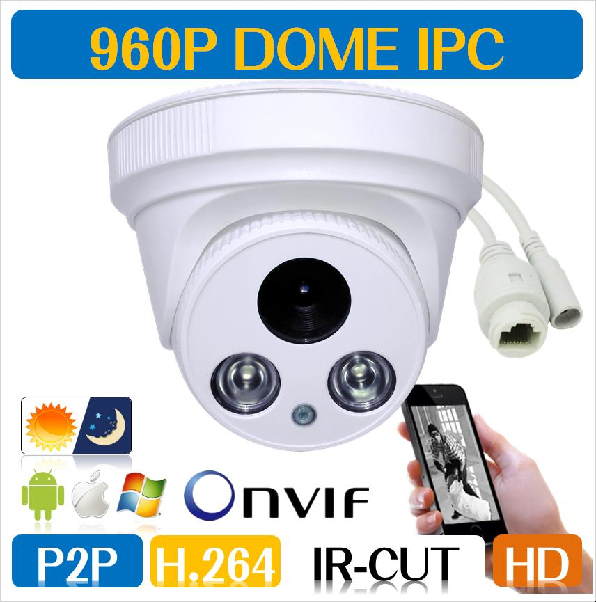 960P 1.3MP  Family Mini Dome Security IP Camera ONVIF 2.0 indoor IR CUT Night Vision P2P Remote CCTV<br><br>Aliexpress