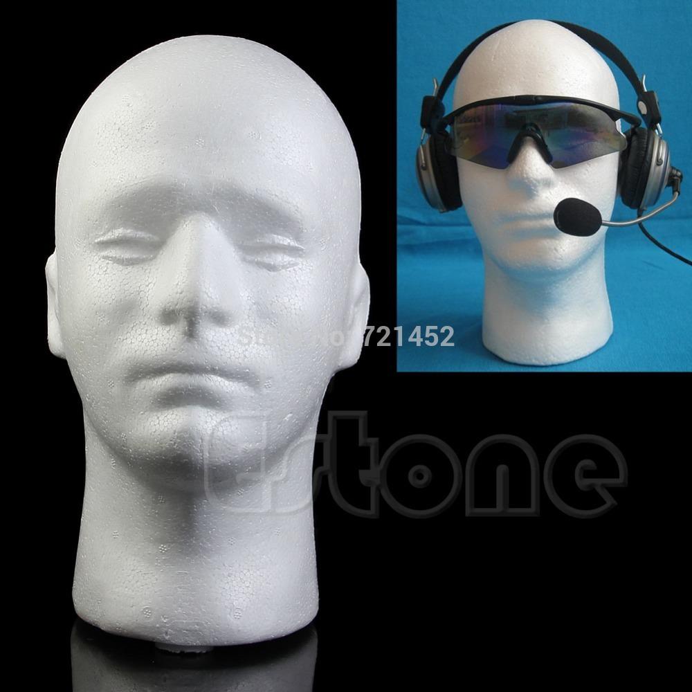 J35 HQ Male Styrofoam Foam Mannequin Manikin Head Model Wig Glasses Hat Display Stand(China (Mainland))