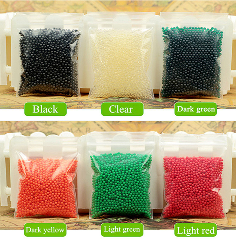 Crystal soil Crystal ball sea baby grow up 15mm hydrogel beads water holder for home decor 1200pcs/lot 12 color 2.5mm to 3mm(China (Mainland))