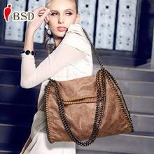 Women bag fashion 2016 Scrub luxury Chain handbag famous designer brand bags women leather handbags women messenger bags vintage(China (Mainland))