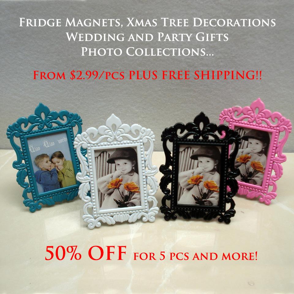 Mini small metal art picture frames, fridge magnet photo frames best children, christmas, wedding gift, - China TreasureHunt Home Decoration Co. Ltd. store