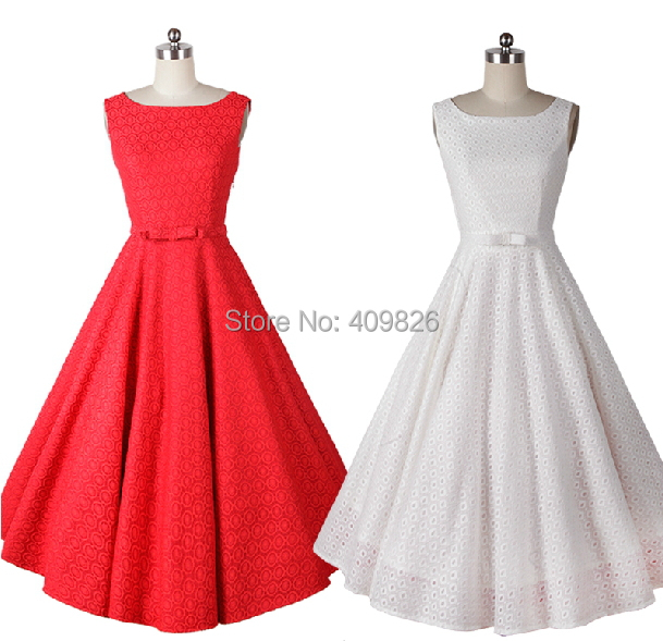 New 50s pin up vintage audrey hepburn elegant and simple for Pin up inspired wedding dresses