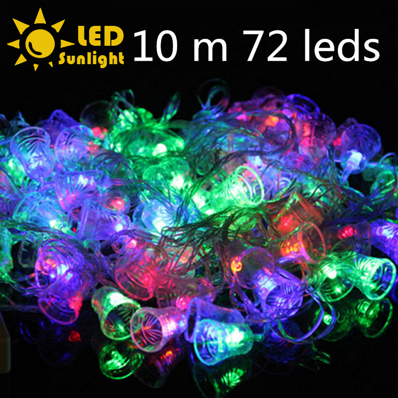 2015 christmas led garland 7m / 10m 72 LEDs 8 modes 220v waterproof string light colorful EU plug Controller + connector Outdoor<br><br>Aliexpress