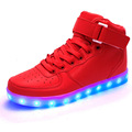 2017 LED Lamp Light Shoes USB Shoes High top Casual Women Growing Shoes for Adults Luminous