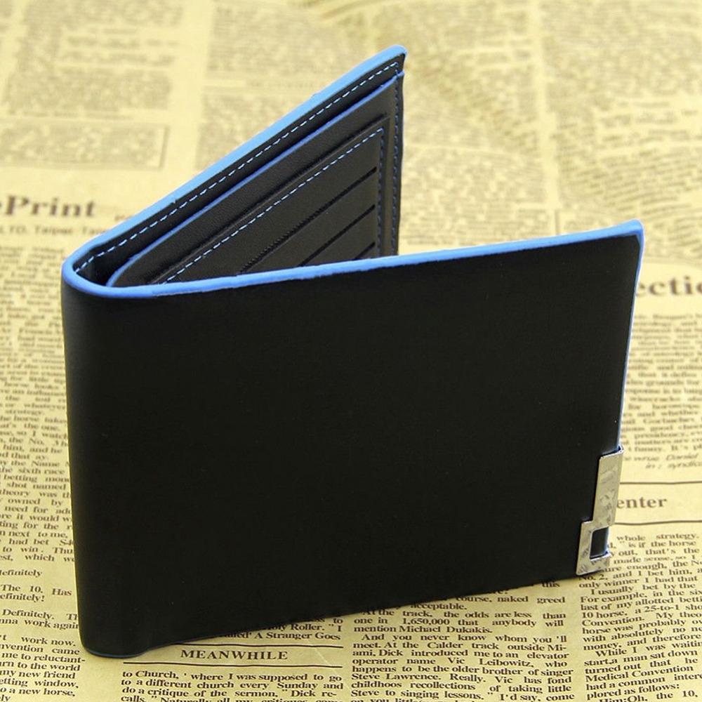brand designer men wallets Leather Wallet for men Bifold clutch wallet dollar price purses carteira masculina W1(China (Mainland))