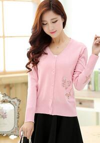 The sweater with butterfly pattern that is very beautiful and lovely which women sweater is very popular in spring and autumn(China (Mainland))