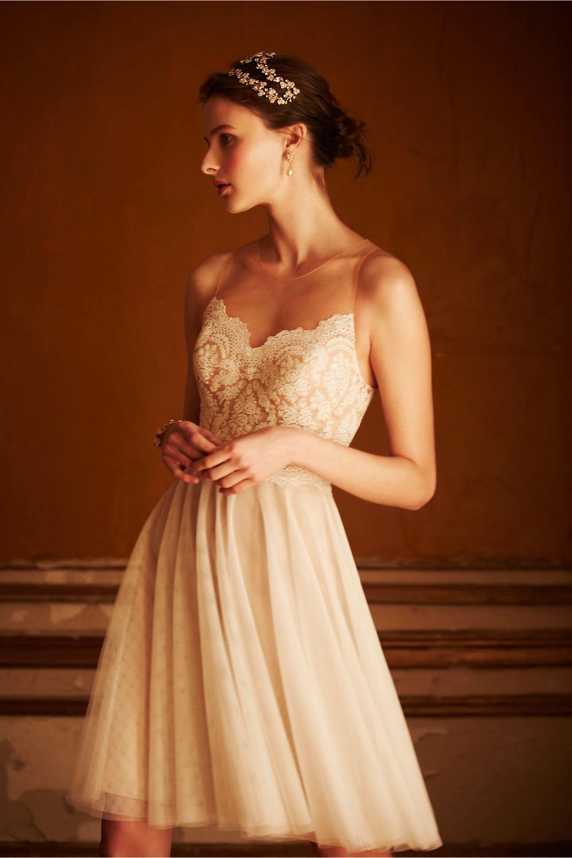 2015 free shipping mini short white ivory lace tulle for Short ivory lace wedding dress