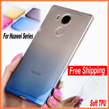 Ultra Thin Slim TPU Gel Soft Rainbow Cover Case Huawei Honor 6 7 7i 4X 4C 4A 5X P8 Lite P9 GR3 GR5 Y6 Y6ii PRO V8 - Shenzhen LifeFone Electronics Co., Ltd. store