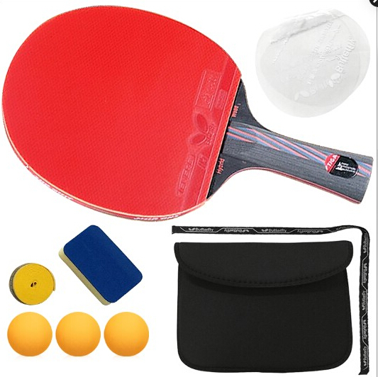 6 free gift Hybrid Wood 9.8 Brand Quality Table tennis racket Ddouble face Pimples-in blue rubber Ping Pong Racket tenis de mesa(China (Mainland))