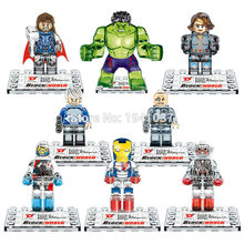 Wholesale Dargo D855 Building Blocks Super Heroes Avengers Crystal Clear Ultron Minifigures Iron Man Hulk Bricks Mini Figures