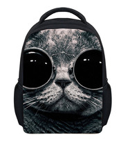 Fashion Zoo Animals Backpacks Baby Mini School Bags,3D Pet Cat Dog with Glasses Bagpack,Outdoor Travel Backpack Child Mochila(China (Mainland))