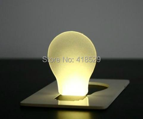 20pcs LED night Light mini Card light Portable Wallet Purse Credit Card Size Pocket LED Nightlight Bulb Lamp 1834(China (Mainland))