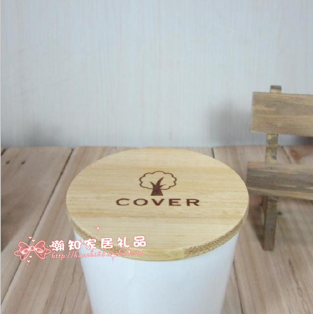 Zakka carbon bamboo wooden mug lid ceramic lid glass cup lid dust cover anti-hot mat