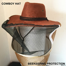 Free shipping 2015 new export-oriented beekeeping tool model cowboy bee preventing cap bee hat(China (Mainland))