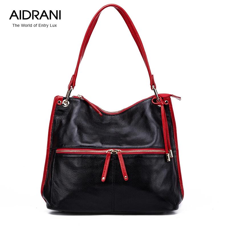 Фотография Bags Handbags Women AIDRANI Brands Genuine Leather Bag Cowhide Shoulder Women
